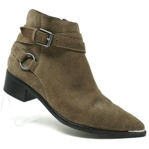Marc Fisher Yatina Booties Taupe Brown Size 6